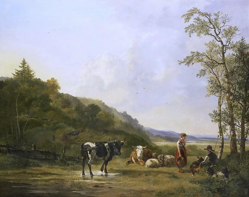 Os, Pieter Gerardus van -- Landschap met herders en vee, 1820. Rijksmuseum: part 2