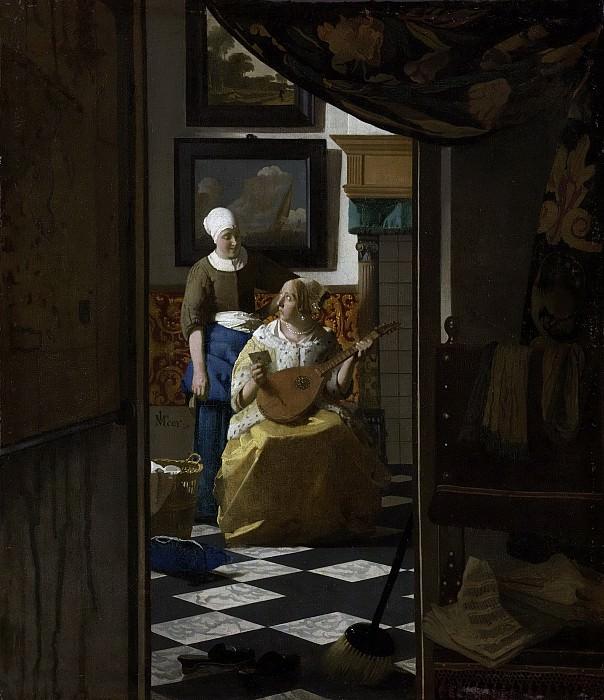 Vermeer, Johannes -- De liefdesbrief, 1669-1670. Rijksmuseum: part 2