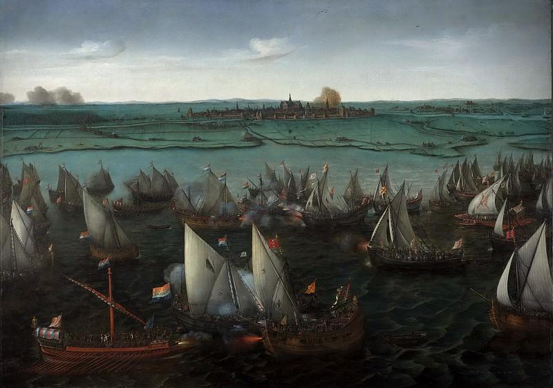 Vroom, Hendrik Cornelisz. -- Gevecht tussen Hollandse en Spaanse schepen op het Haarlemmermeer, 26 mei 1573, 1629. Rijksmuseum: part 2