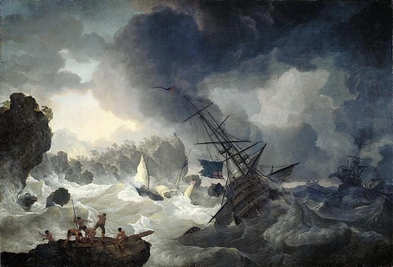 Kobell, Hendrik -- De schipbreuk, 1775. Rijksmuseum: part 2