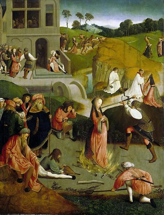 Meester van de Kruisafneming van Figdor -- Het martelaarschap van de heilige Lucia, 1505-1510. Rijksmuseum: part 2