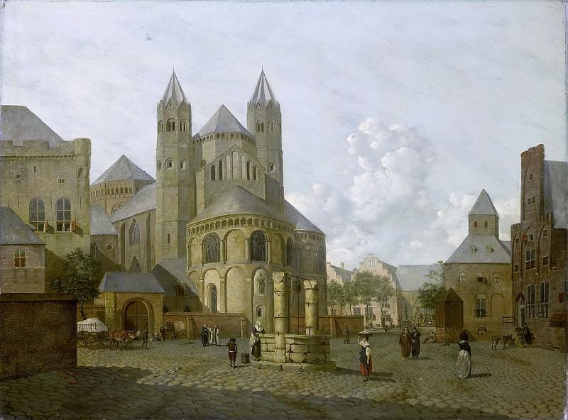 Prins, Johannes Huibert -- Gefantaseerd stadsgezicht met Romaanse kerk, 1793. Rijksmuseum: part 2