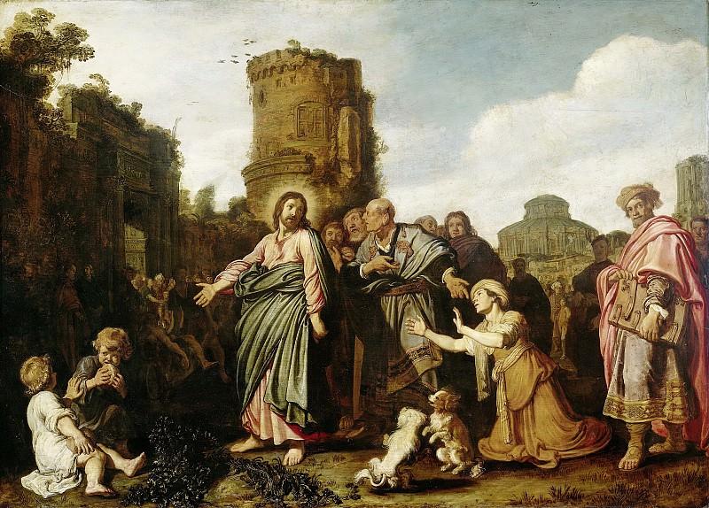 Lastman, Pieter -- Christus en de vrouw uit Kanaän, 1617. Rijksmuseum: part 2