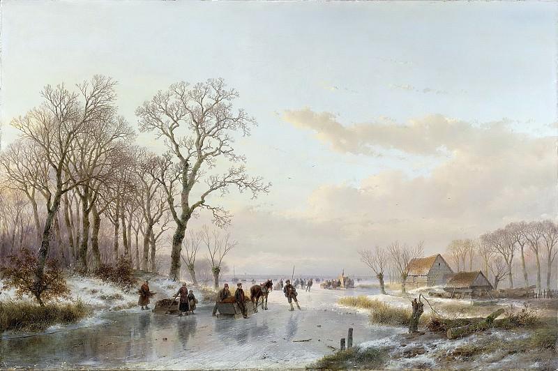 Schelfhout, Andreas -- Een bevroren vaart bij de Maas, 1867. Rijksmuseum: part 2