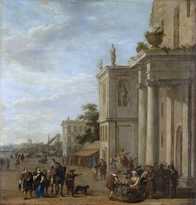 Ulft, Jacob van der -- Italiaans marktplein, 1650-1689. Rijksmuseum: part 2