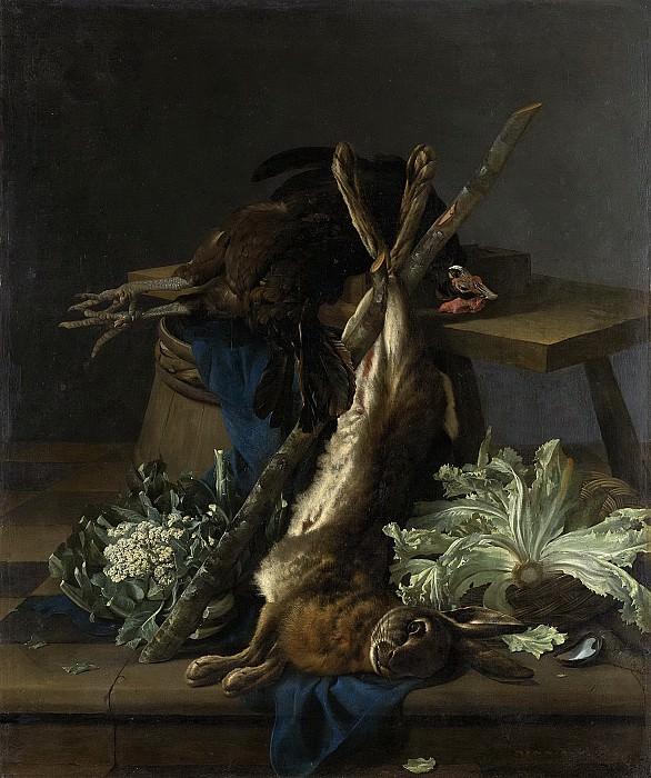Lelienbergh, Cornelis -- Stilleven met haas en zwarte haan, 1659. Rijksmuseum: part 2