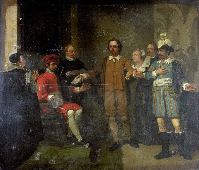 Pieneman, Jan Willem -- Jacob Simonsz de Rijk bewerkstelligt bij de Spaanse gouverneur-generaal Requesens de vrijlating van Marnix van Sint Aldegonde, 1805-1808. Rijksmuseum: part 2