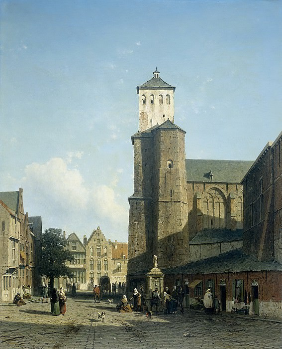 Weissenbruch, Jan -- De kerk van St Denis te Luik, 1850-1860. Rijksmuseum: part 2