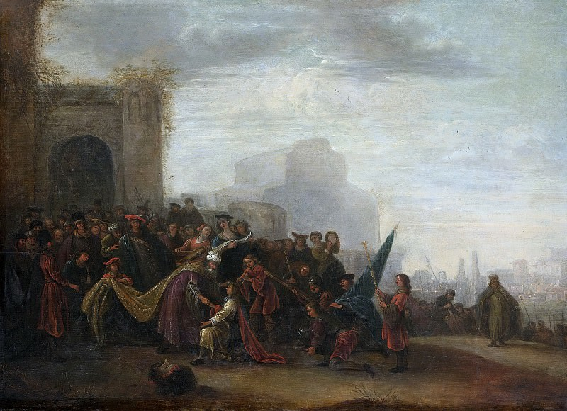 Wet, Gerrit de -- Saul begroet David als overwinnaar van Goliath, 1640. Rijksmuseum: part 2
