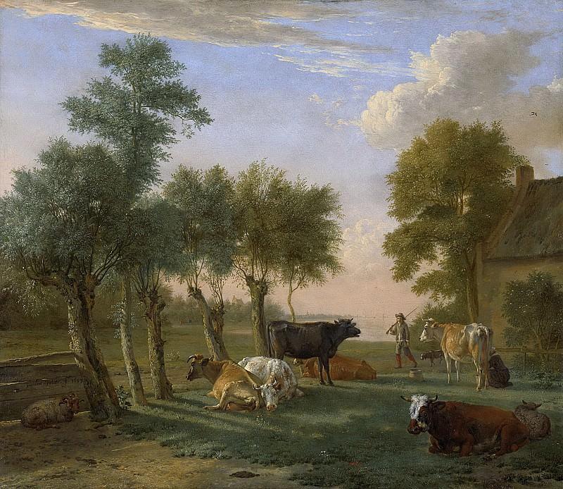 Potter, Paulus -- Koeien in de weide bij een boerderij, 1653. Rijksmuseum: part 2