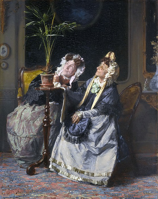 Bakker Korff, Alexander Hugo -- Onder de palmen'., 1880. Rijksmuseum: part 2