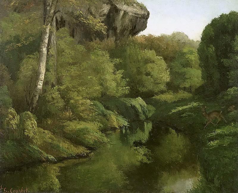 Courbet, Gustave -- Gezicht in het bos van Fontainebleau, 1855. Rijksmuseum: part 2