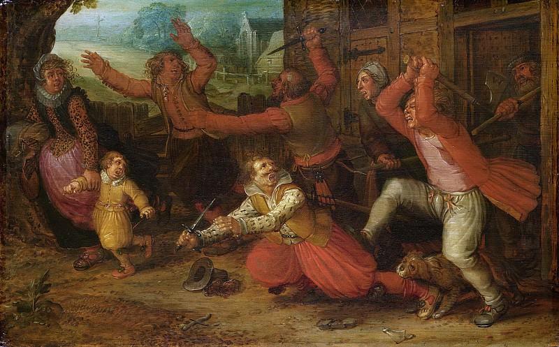 Vinckboons, David -- Boerenvreugd, 1619. Rijksmuseum: part 2