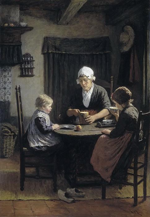 Давид Адольф Констант Артс -- Возле бабушки, 1883. Рейксмузеум: часть 2