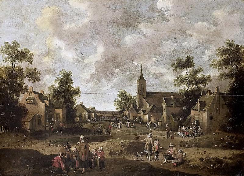 Droochsloot, Cornelis -- Dorpsstraat, 1664. Rijksmuseum: part 2