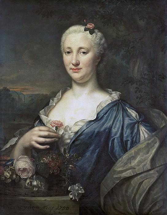 Verheyden, Mattheus -- Agnes Margaretha Albinus (1713-73). Echtgenote van Coenraad van Heemskerck, 1750. Rijksmuseum: part 2
