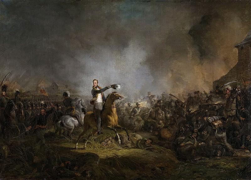 Pieneman, Jan Willem -- De prins van Oranje bij Quatre Bras, 16 juni 1815, 1817-1818. Rijksmuseum: part 2