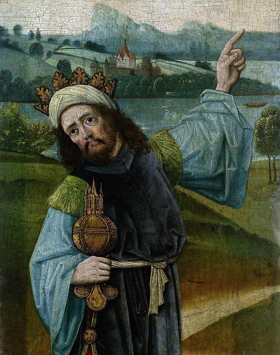 Unknown artist -- Melchior, een van de drie koningen, 1480-1490. Rijksmuseum: part 2