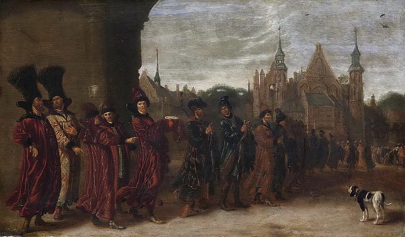 Beest, Sybrand van -- Het gezantschap van de Tsaar van Moscovië op weg naar de Statenvergadering in Den Haag, 4 november 1631, 1631-1674. Rijksmuseum: part 2