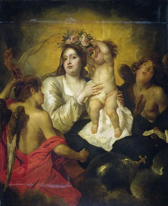 Томас Виллебойртс Босхерт -- Прославление Марии, 1623-54. Рейксмузеум: часть 2