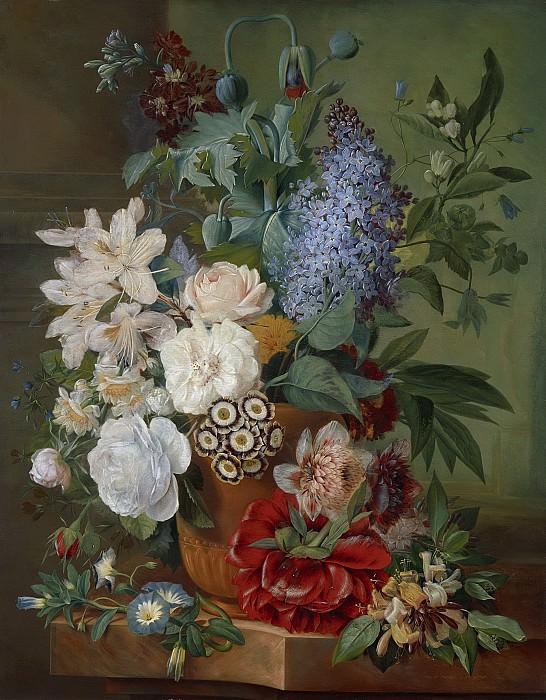 Альберт Йонас Брандт -- Цветы в терракотовой вазе, 1810-1824. Рейксмузеум: часть 2