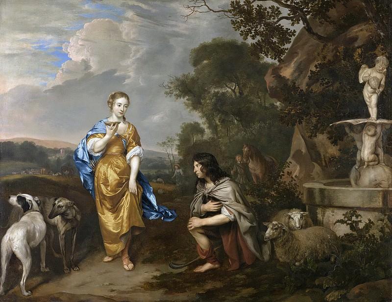 Mijtens, Johannes -- Dubbelportret van een jong paar als Granida en Daifilo, 1640-1670. Rijksmuseum: part 2