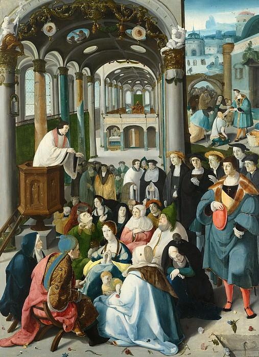 Claesz. van Leyden, Aertgen -- De roeping van Sint Antonius, 1530. Rijksmuseum: part 2