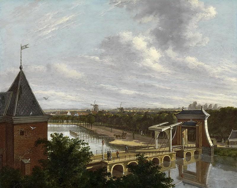 Jelgerhuis, Johannes -- De Amsterdamse buitensingel bij de Leidse poort, gezien vanuit de Schouwburg, 1813. Rijksmuseum: part 2