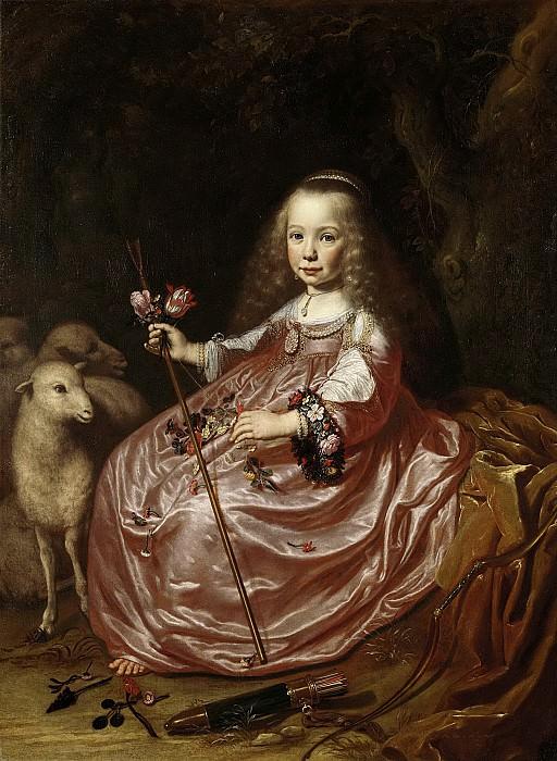 Дирк Диркс ван Сантворт -- Клара Алевейн (1635-74), дочь Абрахама Алевейна и Гертрейды Хофман, 1644. Рейксмузеум: часть 2