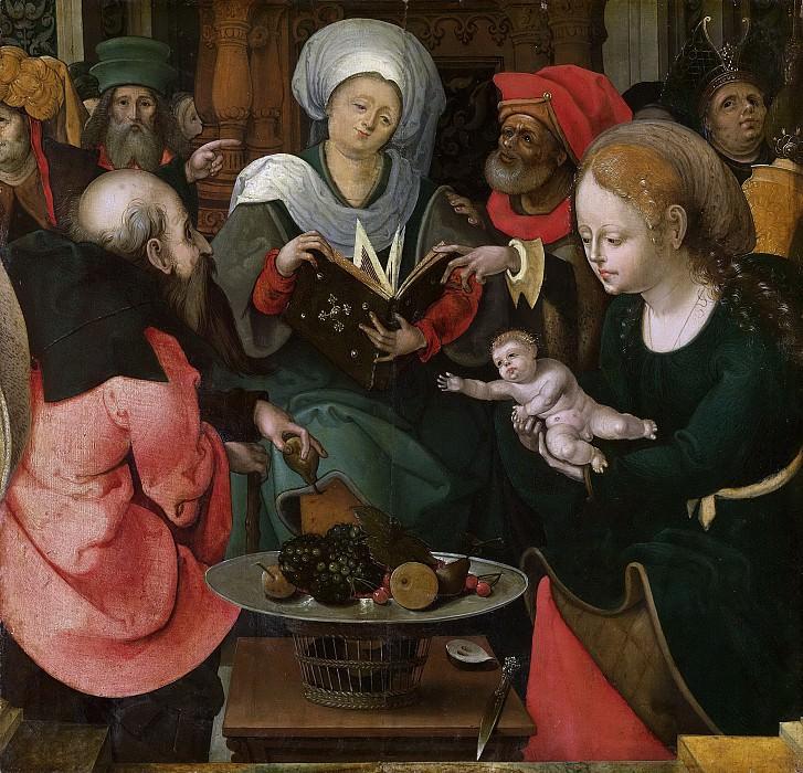 Meester van de Aanbidding te Lille -- De heilige maagschap, 1520-1530. Rijksmuseum: part 2