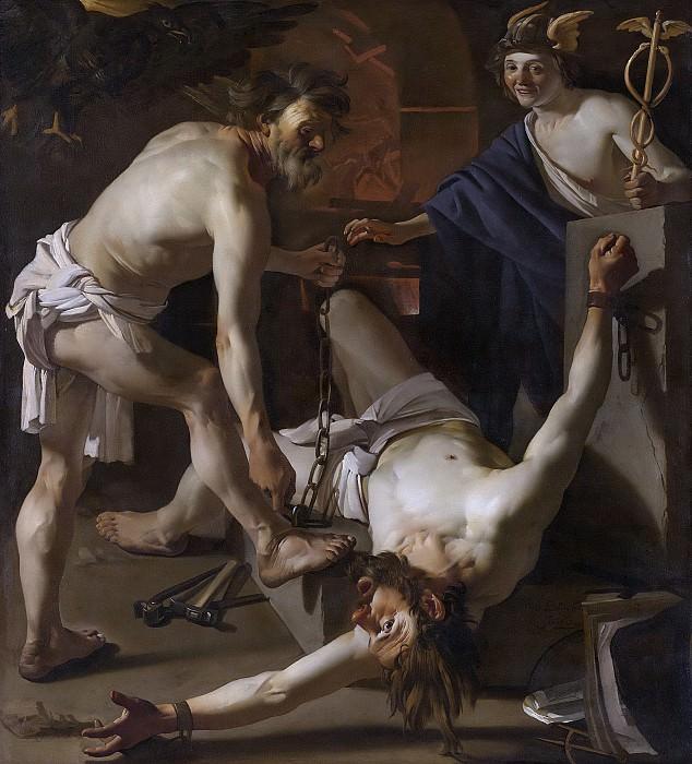 Baburen, Dirck van -- Prometheus door Vulcanus geketend, 1623. Rijksmuseum: part 2