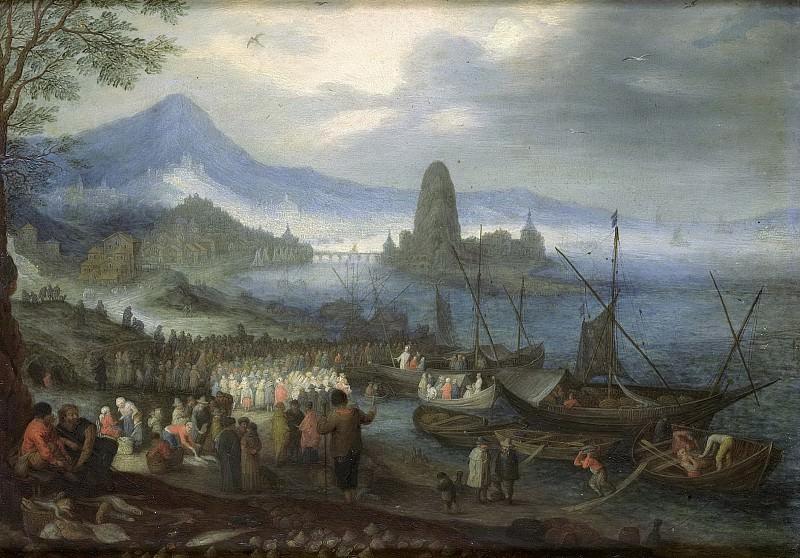 Brueghel, Jan (I) -- De prediking op het Meer van Galilea., 1600-1699. Rijksmuseum: part 2