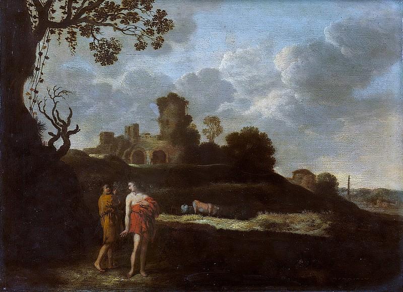 Dalens, Dirck (I) -- Arcadisch landschap met herders en vee, 1625-1676. Rijksmuseum: part 2