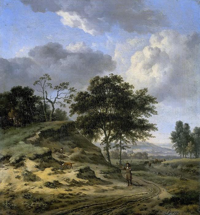 Wijnants, Jan -- Landschap met twee jagers, 1655-1684. Rijksmuseum: part 2