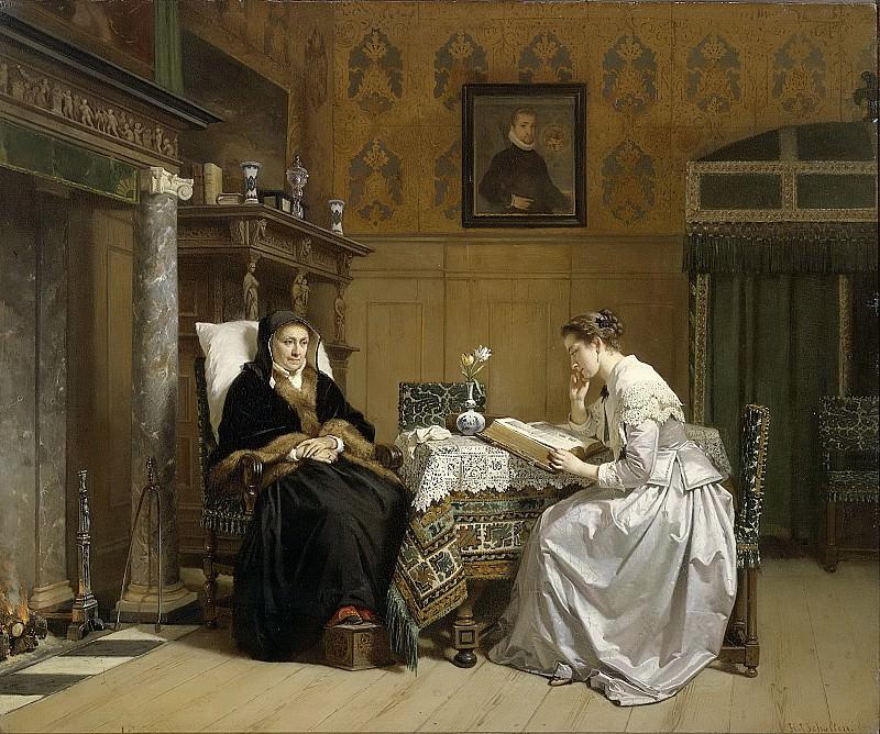 Хендрик Якоб Схольтен -- Воскресное утро, 1865-1868. Рейксмузеум: часть 2