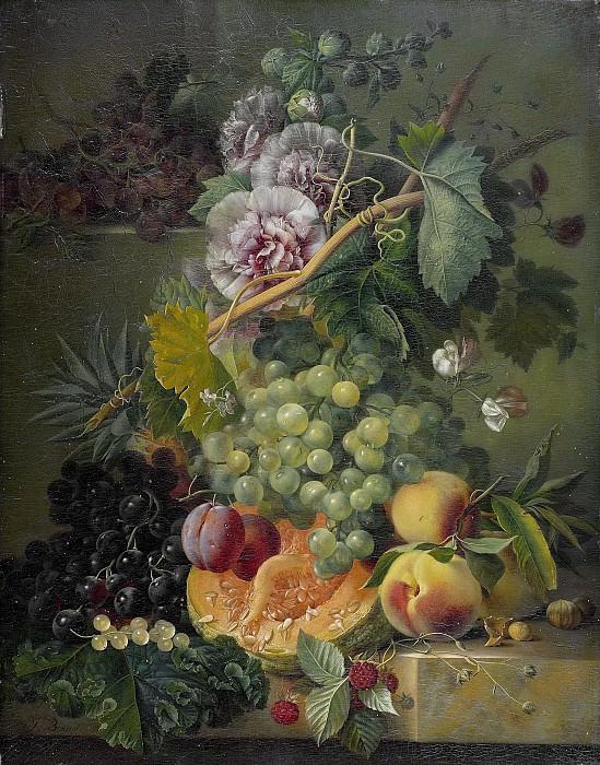Brandt, Albertus Jonas -- Stilleven van bloemen en vruchten., 1816-1817. Rijksmuseum: part 2