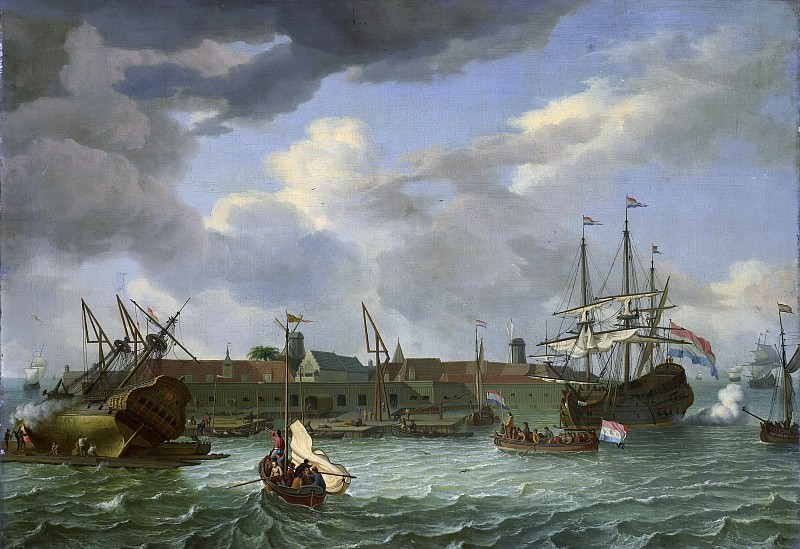 Storck, Abraham -- Het eiland Onrust bij Batavia, 1699. Rijksmuseum: part 2