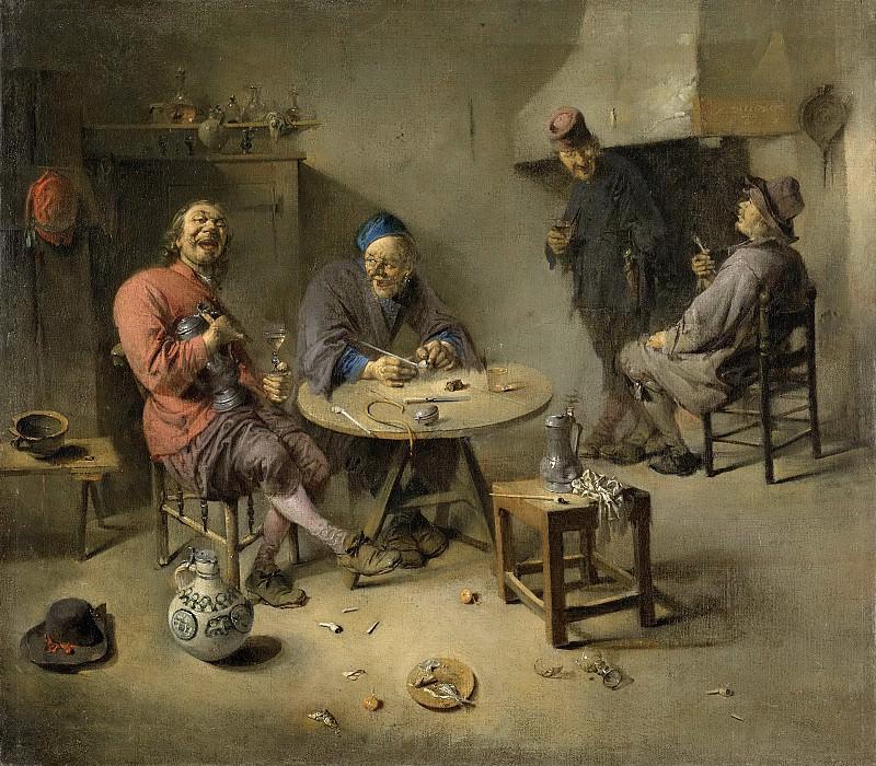 Diepraam, Abraham -- De gelagkamer, 1665. Rijksmuseum: part 2