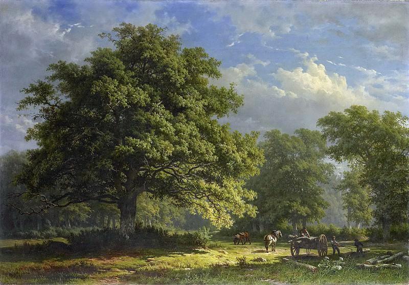 Roth, George Andries -- Gezicht in het Bentheimse bos, 1870. Rijksmuseum: part 2