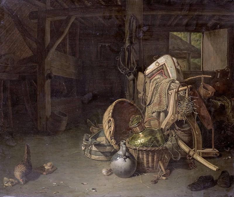 Knoll, François Cornelis -- Stilleven in een stal, 1824. Rijksmuseum: part 2