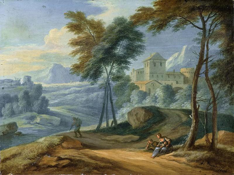 Boudewyns, Adriaen Frans -- Bergachtig landschap., 1660-1711. Rijksmuseum: part 2