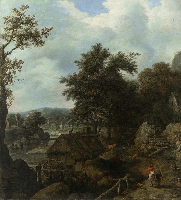 Неизвестный художник -- Шведский пейзаж и водяная мельница, 1655. Рейксмузеум: часть 2