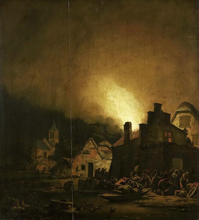 Colonia, Adam -- Nachtelijke brand in een dorp, 1650-1685. Rijksmuseum: part 2