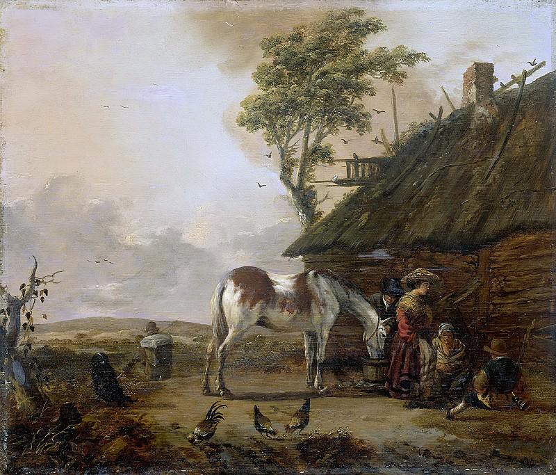 Ян Воуверман -- Пёстрая лошадь, 1655-1666. Рейксмузеум: часть 2