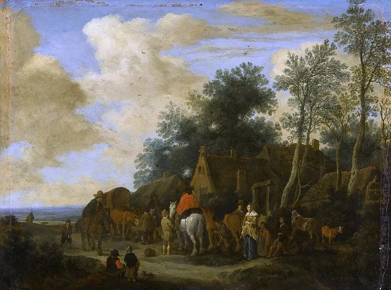 Molijn, Pieter de -- Halte bij een herberg, 1657. Rijksmuseum: part 2
