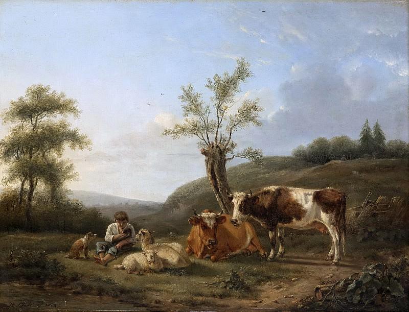 Stokvisch, Hendrik -- Landschap met vee bij Darthuizen, 1814. Rijksmuseum: part 2