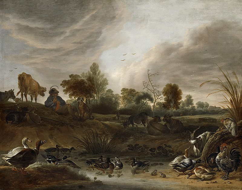 Saftleven, Cornelis -- Landschap met dieren, 1652. Rijksmuseum: part 2