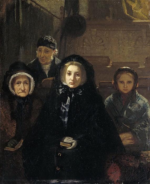 Аллебе, Август -- Ранним утром - в церковь, 1861. Рейксмузеум: часть 2