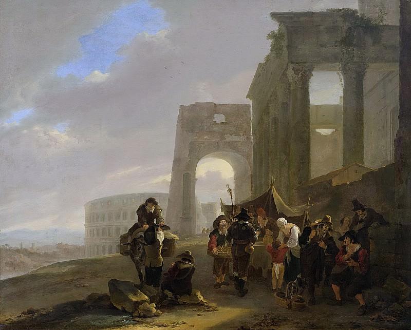 Ян Бот -- Обыденная сцена среди римских руин, 1640-1652. Рейксмузеум: часть 2