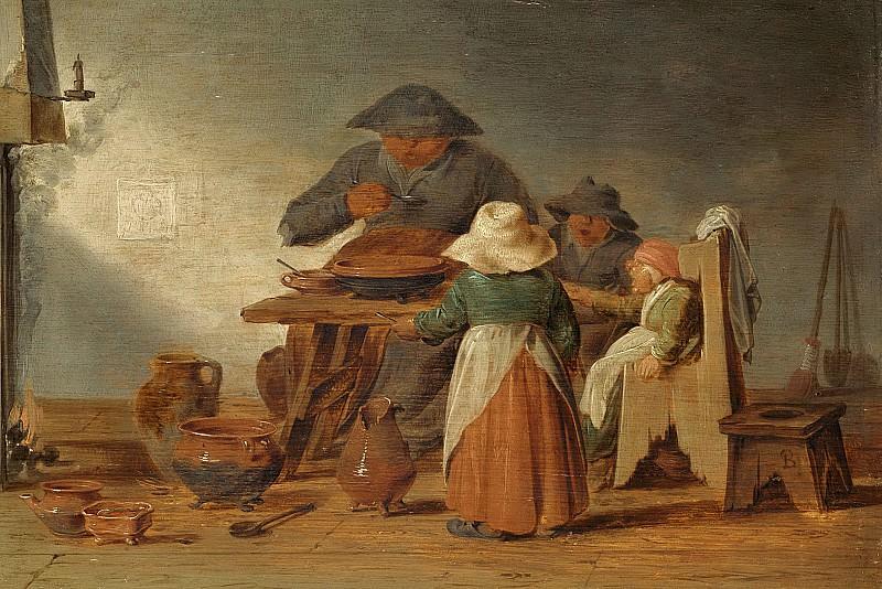 Ян Янс Бусем -- Крестьянский обед, 1625-1650. Рейксмузеум: часть 2